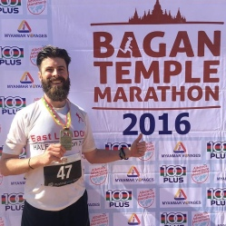 The first run I wanted to do - Bagan 2016