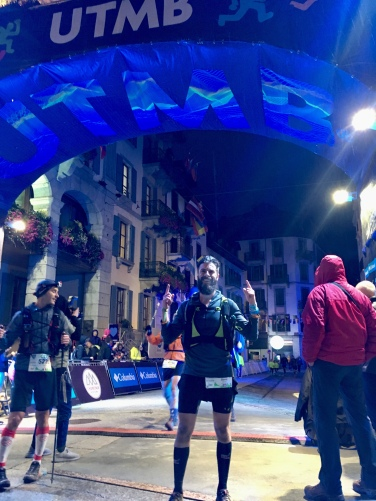 My turn under the UTMB Arch