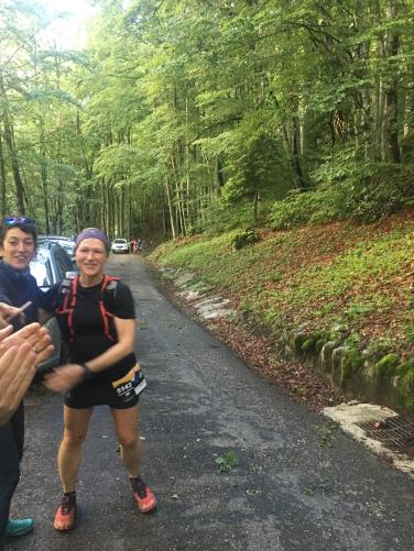 Dorota smashing the 12km